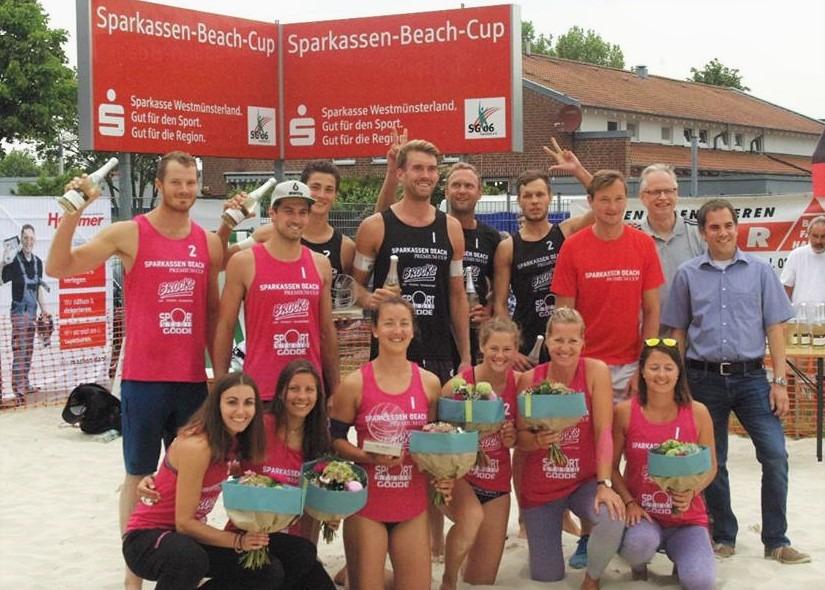 Mersmann/Tillmann und Walkenhorst/Winter gewinnen Sparkassen Beach Cup in Coesfeld