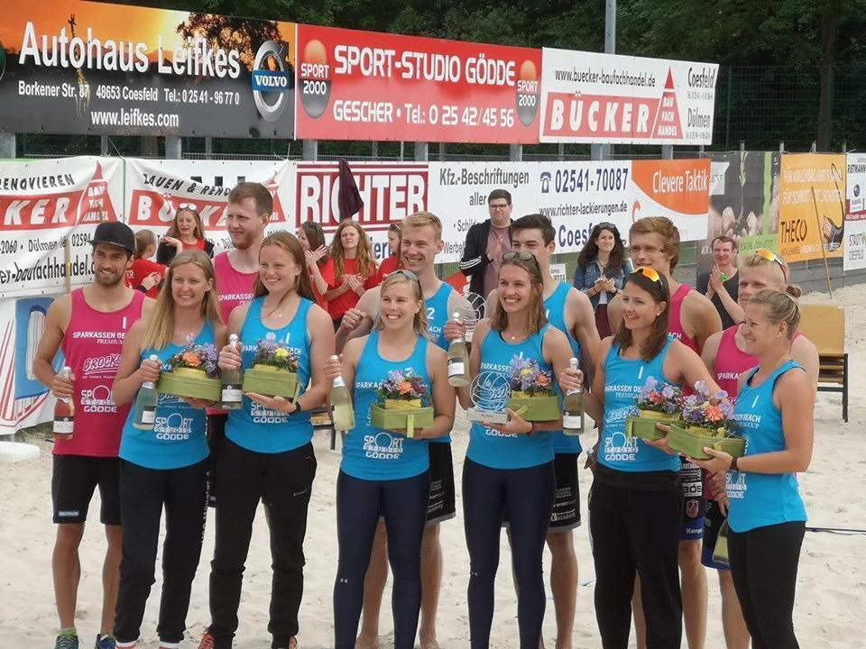 Claaßen / Interwies und Brand / Reinhardt gewinnen Sparkassen Beach Cup 2019