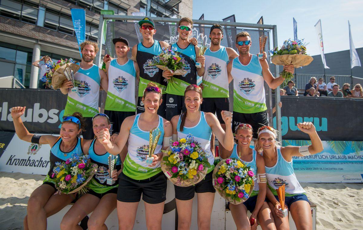 Aulenbrock/Ferger und Poniewaz / Poniewaz gewinnen Urlaubsguru Beach Cup in Münster